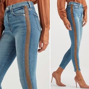 NEW 7FAM Luxe Vintage High Waist Skinny Jeans 29